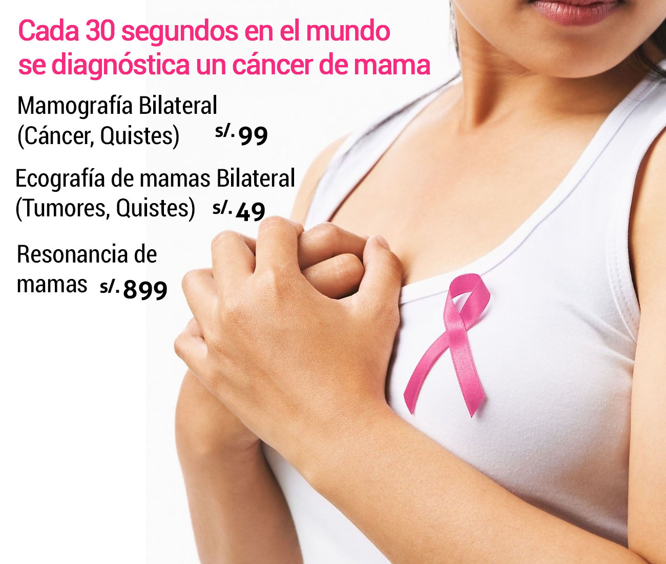 Examen de mamografía bilateral, cáncer de mama
