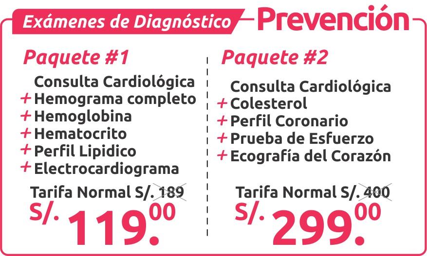 exámenes de diagnostico prevencion