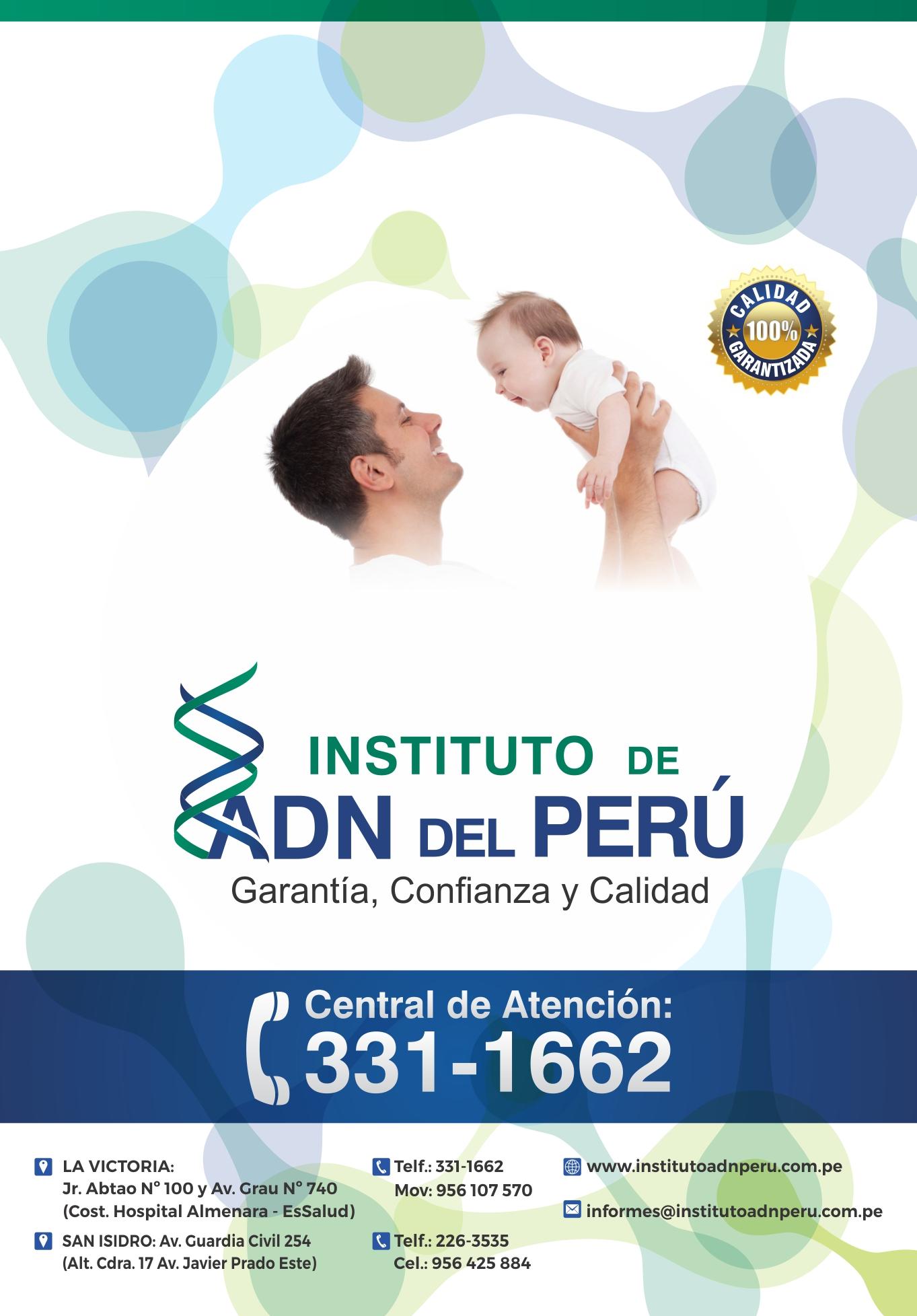 Servicio de ADN Paternidad a nivel nacional